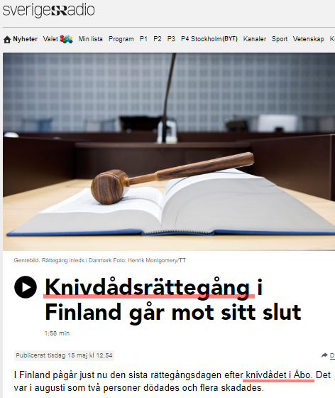 Islamister anklagas for knivdad