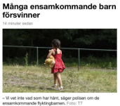 SVT, ensamkommande flyktingbarn