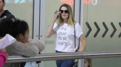 Lauren på väg in i Australien