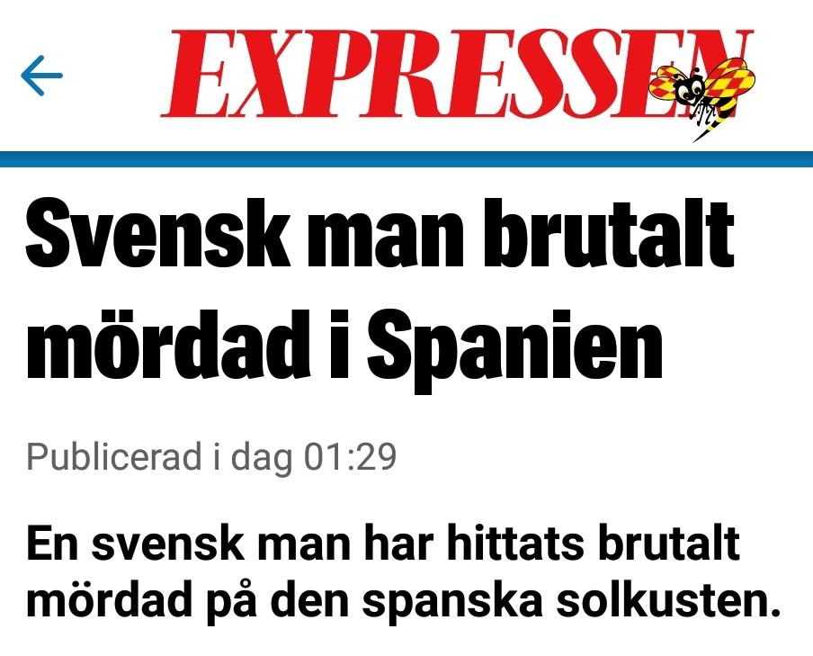 Uppgifter svensk man dodade polis i spanien