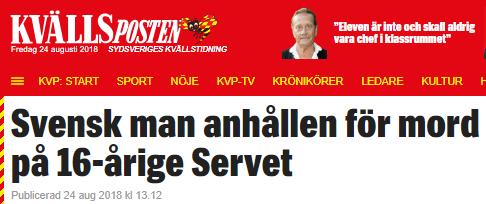 Man gripen for mordet pa svenska