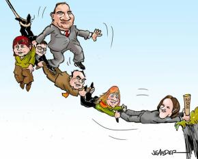 Jeander har ritat hur Alliansen la sig platt för Löfven i fyra år...