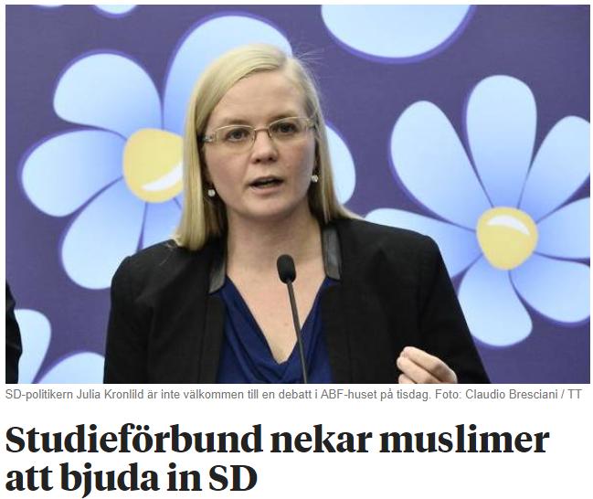 Muslimer ar valkomna i svensk politik