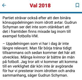 Expressen Gudrun Schyman om idrott2