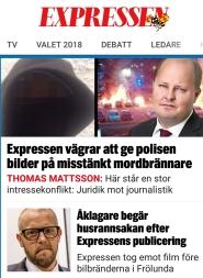 Expressen misstänkt mordbrännare