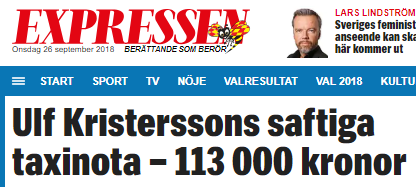 Expressen_Ulf_Kristerssons_taxiresor