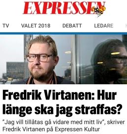 Expressen Fredrik Virtanen straff