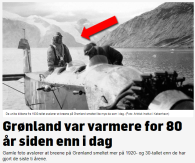Grönland var varmare för 80 år sedan än idag.