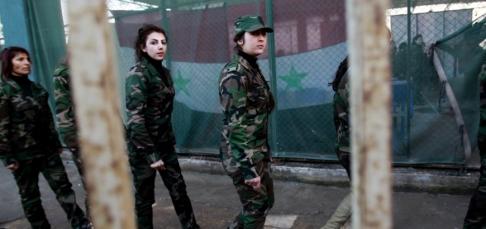 Syriska kvinnliga soldater