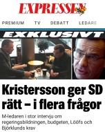 Expressen Ulf Kristersson sd har rätt