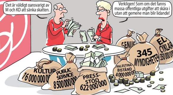 M+KD budgeten är totalt oansvarig, en katastrof…   Petterssons gör Sverige  lagom!