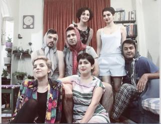 Iran män i hijab