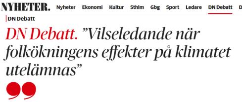 Folkokningens Paverkan Pa Klimatet Gloms Bort Petterssons