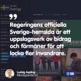 SD Regeringens hemsida lovar bidrag