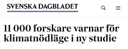 SvenskaDagbladet Klimatkris