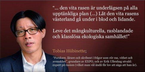 Tobias Hübinette lever på statsbidrag.