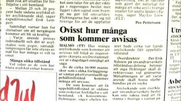 1989 kom c:a 30.000 flyktingar, då var Sverige fullt sa socialdemokraterna. I år kommer 120.000 uppehållstillstånd att beviljas, Gränserna är stängda säger socialdemokraterna