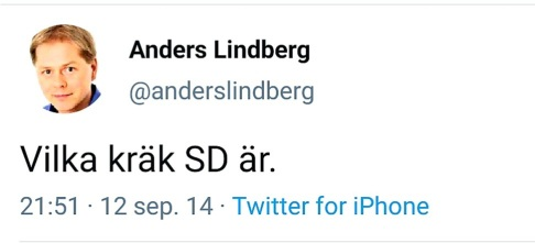 Anders Lindberg SD är kräk