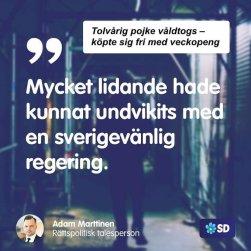 SD våldtäkt veckopeng